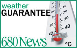 680News Weather Guarantee!