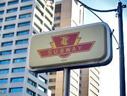 A TTC subway station sign