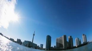The Toronto skyline from Lake Ontario