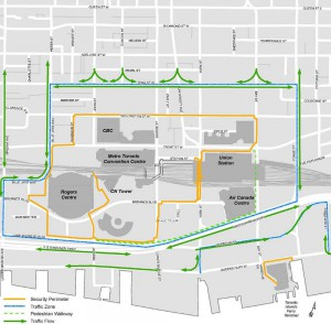 Traffic and perimeter restrictions for G20