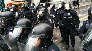 File photo of police presence during the G20 summit in Toronto, Ont., in 2011