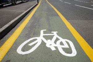 An example of a bike lane