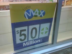 Lotto Max sign