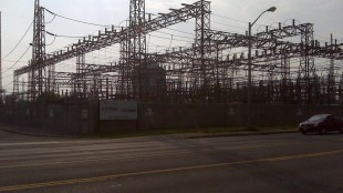 680's Carl Hanstke snapped a shot of the transformer station, where an explosion led to a massive blackout across Toronto.