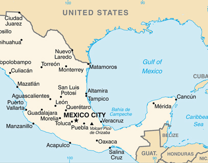 Mexico Map 680 News