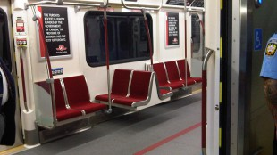 Inside view of the new TTC subway cars