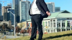 Rob Ford near Queen's Quay and Lower Jarvis in photo from October 2010