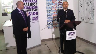 Councillor Joe Mihevic announcing his support for George Smitherman in Toronto's mayoral race