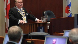 """Toronto Mayor Rob Ford with the """"chain of office"""""""
