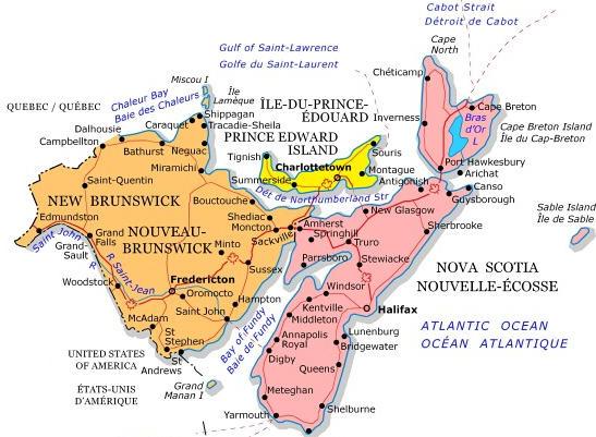 Maritimes map  680 NEWS
