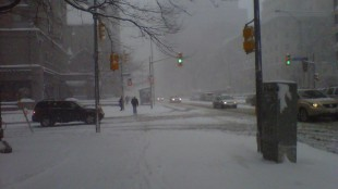 Weather conditions outside 680News broadcasting station