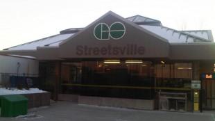 GO Transit station in Streetsville, Ont.