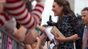 Catherine (Kate), Duchess of Cambridge greeting well-wishers in Ottawa (June 2011)