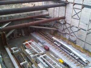 Construction work on Spadina subway extension
