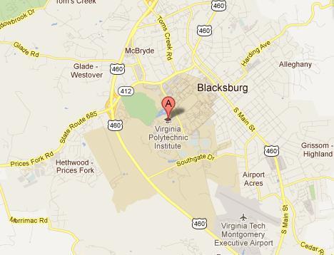 Map Of Virginia Tech 680 News