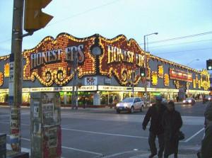 Honest Ed's is located at 581 Bloor Street West.