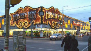 Honest Ed's is located at 581 Bloor Street West.