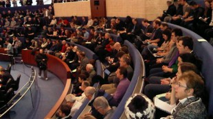 It's a full house at Toronto city council for a special meeting on the future of rapid transit in the city (Feb. 8, 2012)
