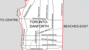 Toronto-Danforth riding map