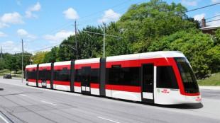 Artist's rendition of a light-rail transit vehicle
