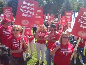 Ontario teachers protest at Queen's Park (Aug. 28, 2012)