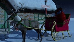 Rudolph and Sleigh
