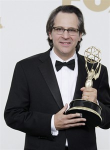 "When ""Parenthood"" creator Jason Katims created the character Max Braverman - an intelligent, inscrutable, insect-obsessed youngster with Asperger's - he had in mind his own son, Sawyer, who was similarly diagnosed. Katims holds the award for best writing for a drama series for ""Friday Night Lights"" at the 63rd Primetime Emmy Awards on Sunday, Sept. 18, 2011 in Los Angeles. THE CANADIAN PRESS/AP-Jae Hong"