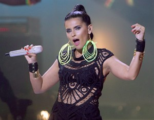 """Nelly Furtado performs during the 2012 Much Music Video Awards in Toronto on Sunday, June 17, 2012. After rattling the charts with her sexed-up clubquake """"Loose,"""" Nelly Furtado faced a difficult riddle: how to follow the biggest success of her career, a disc that sounded like nothing else in her catalogue? THE CANADIAN PRESS/Chris Young"""