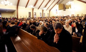 Newtown CT mourners