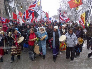 Idle No More Protests Photo Courtesy of: Idle No More Facebook page