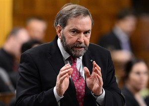 NDP leader Tom Mulcair asks a question during question period in the House of Commons on Parliament Hill in Ottawa on Thursday Feb 14, 2013. THE CANADIAN PRESS/Sean Kilpatrick