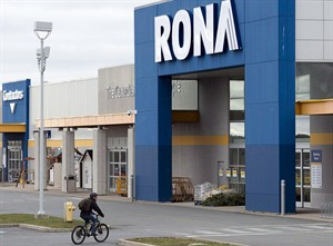 A Rona store is seen in Halifax on Dec.6, 2012. The home improvement retailer plans to cut 200 full-time administrative jobs across Canada, about 15 per cent of the total. THE CANADIAN PRESS/Andrew Vaughan