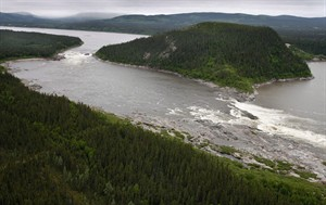 Muskrat Falls, on the Churchill River in Labrador, is shown in a Feb., 2011 file photo. THE CANADIAN PRESS/Paul Daly