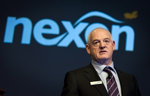 In this April 25, 2012 photo, Nexen chief executive Kevin Reinhart addresses the company's annual meeting in Calgary. Chinese state-owned firm CNOOC Ltd. has completed its $15.1-billion takeover of Calgary oil and gas producer Nexen Inc. Kevin Reinhart, who had been serving as interim CEO, will continue on in the top job. THE CANADIAN PRESS/Jeff McIntosh