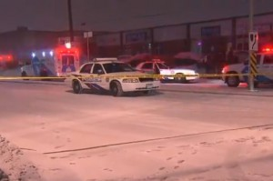 Police investigate after a shooting outside a restaurant near Weston and Steeles.