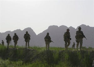 Canadian soldiers patrol an area in the Dand district of southern Afghanistan on Sunday, June 7, 2009. THE CANADIAN PRESS/Colin Perkel