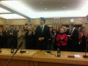 Justin Trudeau, first caucus