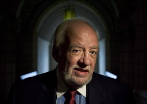 Senator Doug Finley arrives to the Senate for a swearing-in ceremony on Parliament Hill in Ottawa, Ont., September 15, 2009. Sen. Finley has passed away after a battle with colorectal cancer. THE CANADIAN PRESS/Sean Kilpatrick