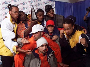 "Members of Rascalz show off their Juno award for Best Rap Recording at the Juno Awards in Hamilton, Ontario Sunday March 7,1999. The chorus of one of Canada's most famous rap songs almost didn't happen. As Toronto's Choclair, Thrust and Kardinal Offishall put the finishing touches on the highly popular single ""Northern Touch"" in the summer of 1997, Offishall struggled with constant sneezing. The lead single from the Rascalz's album ""Cash Crop,"" it went on to become one of the most successful hip-hop songs in Canadian history. THE CANADIAN PRESS/Frank Gunn"
