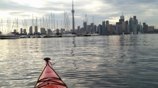 Kayaking to Toronto from the Toronto Islands, summer 2012