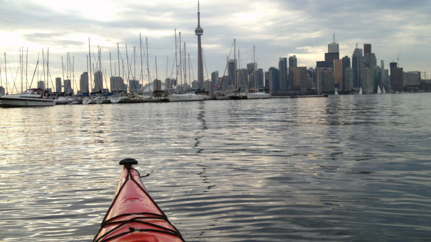 Kayaking to Toronto from the Toronto Islands, summer 2012