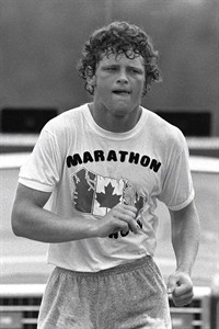 Terry Fox continues his Marathon of Hope run across Canada in this Aug., 1980 file photo. The family of iconic runner Terry Fox is lending more than 200,000 items related to his 1980 Marathon of Hope for an exhibit at the future Canadian Museum of History. The showcase of the huge private collection will open in 2015 to coincide with the 35th anniversary of Fox's cross-country, fundraising run for cancer research. THE CANADIAN PRESS/CP