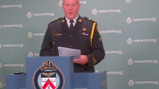 Toronto police chief Bill Blair addresses media at police headquarters on July 29, 2013