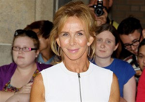 """FILE - This Sept. 7, 2012 file photo provided by Starpix shows Trudie Styler during the 2012 Toronto International Film Festival in Toronto. Styler will star this fall in a new off-Broadway adaptation of Anton Checkov's """"The Seagull."""" Producers said Wednesday, Aug. 28, 2013 that she will portray the fading actress Irina Arkadina in the Culture Project's version of the classic work adapted by Thomas Kilroy and directed by Max Stafford Clark. This version will be set in late 19th century Ireland. (AP Photo/Starpix, Marion Curtis, file)"""