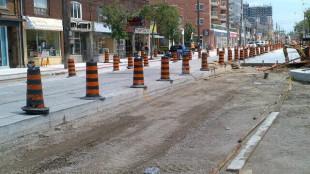 Kingston Road construction