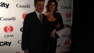 Alan Thicke and Tanya Callau at the Canadian Consulate party on Jan. 23, 2014. 680NEWS/Rudy Blair.