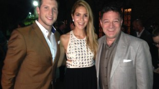 Brad Smith, Dina Pugliese and Kevin Frankish at the Canadian Consulate party on Jan. 23, 2014. 680NEWS/Rudy Blair.