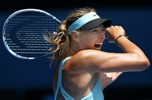 Maria Sharapova of Russia follows through on a shot in Melbourne, Monday, Jan. 20, 2014.THE CANADIAN PRESS/AP, Aaron Favila