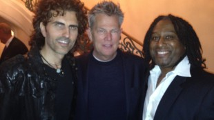 Stephan Moccio, David Foster and Rudy Blair at the Canadian Consulate party on Jan. 23, 2014. 680NEWS/Rudy Blair.