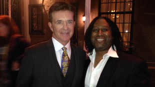 Alan Thicke and Rudy Blair at the Canadian Consulate party on Jan. 23, 2014. 680NEWS/Rudy Blair.
